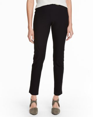 EILEEN FISHER Stretch-Crepe Slim Ankle Pants Petite