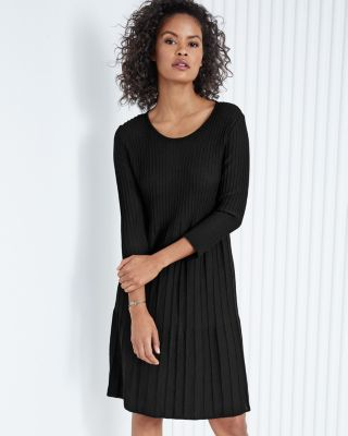 EILEEN FISHER Wool Scoop-Neck Dress