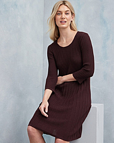 Eileen Fisher Washable Wool Scoop-Neck Dress - Regular