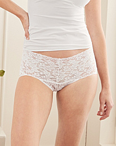 Hanky Panky Retro Lace High-Waisted V-Kini