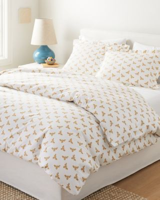 Mini-Print Percale Duvet Cover