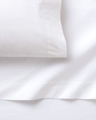 Garnet Hill Hemstitched Supima Cotton Percale Sheets