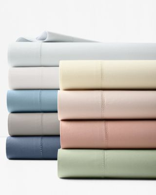 Hemstitched Supima Cotton Percale Sheets
