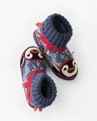 Garnet Hill Kids' Boiled Wool Slipper Boots