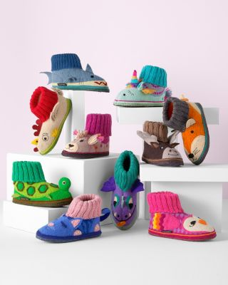 Garnet Hill Kids' Boiled Wool Slipper Boots