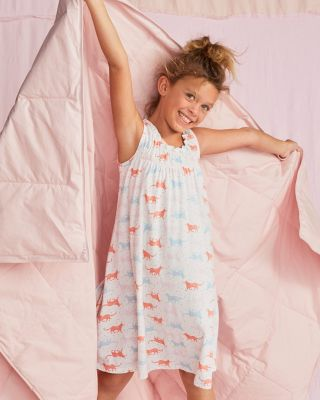Signature Girls' Smocked Ruffle Nightgown