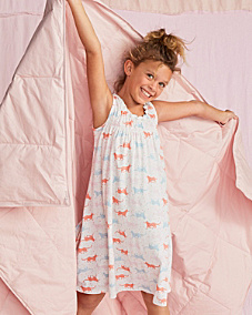 Smocked Ruffled Nightgown - Girls