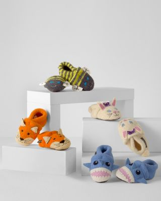 Garnet Hill Baby Boiled Wool Slippers