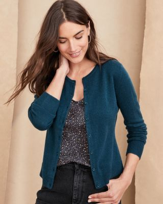 Cashmere Retro Cardigan Sweater by Garnet Hill