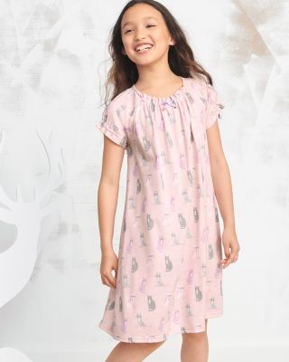 Girls' Bow-Detail Nightgown