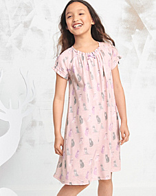 Bow-Detail Nightgown - Girls