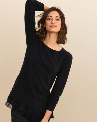 Women's Shirttail Cashmere Sweater