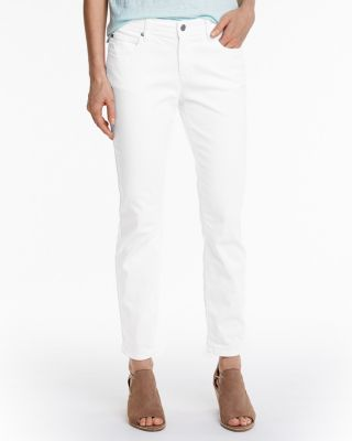 EILEEN FISHER Organic Cotton Stretch-Twill Slim Pants
