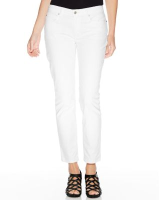 EILEEN FISHER Stretch-Twill Slim Pants Petite