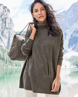 Garnet Hill Oversized Turtleneck Sweater