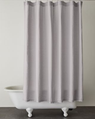 SAVE EILEEN FISHER Solid Washed-Linen Shower Curtain
