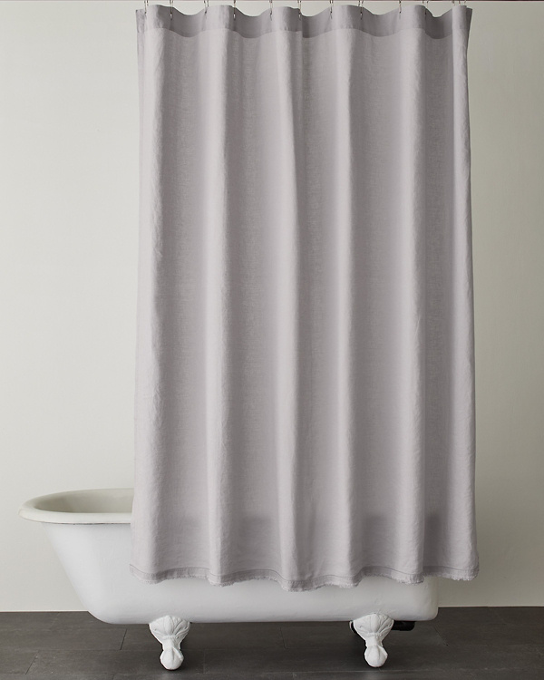 Eileen Fisher Washed Linen Shower Curtains | Garnet Hill