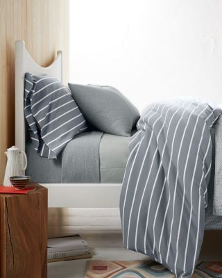 Garnet Hill Classic Stripe Cotton Jersey-Knit Sheets