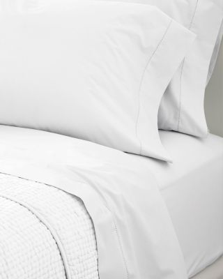 White Cotton Percale Fitted Sheets