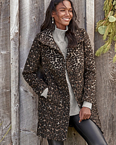 Via Spiga Allover Leopard-Print Coat