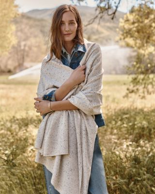 Garnet Hill Plush Cashmere Wrap