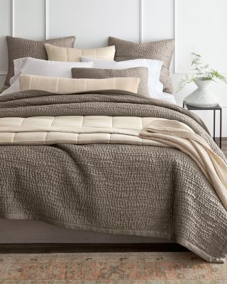 SAVE EILEEN FISHER Waves Washed-Silk Quilt, Sham, and Pillow