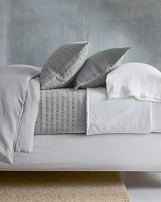 Eileen Fisher Rippled Organic Cotton Coverlet and Shams | Garnet Hill : organic quilts and coverlets - Adamdwight.com