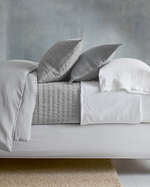 EILEEN FISHER Rippled Organic Cotton Coverlet
