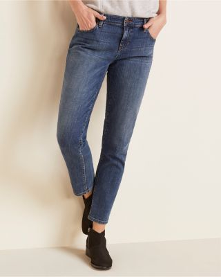 EILEEN FISHER Organic Cotton Stretch Boyfriend Jeans