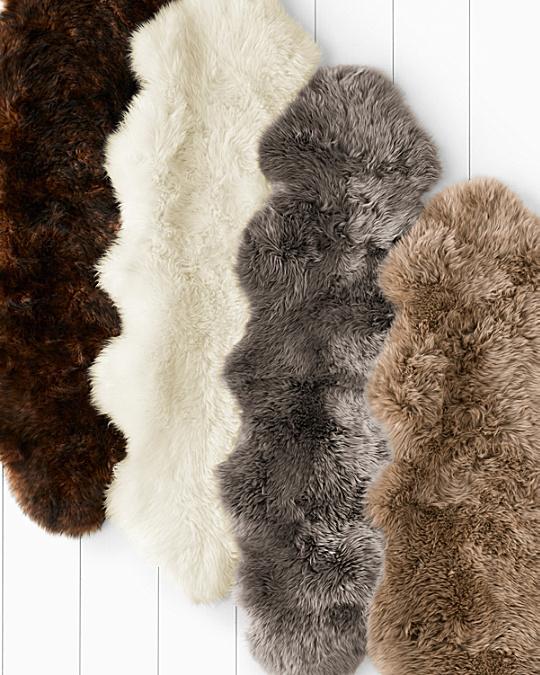 Sheepskin Rug Look: Sheepskin Rug