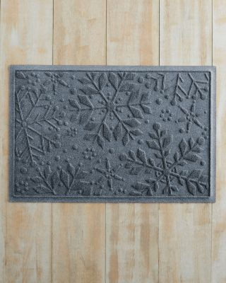 Snowflakes Water Guard Mat 35 Inch Diameter