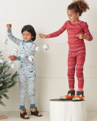 Kids' Organic Cotton Long John Pajamas