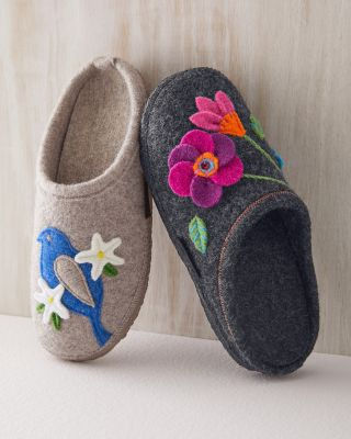 Giesswein Flora Applique Slippers