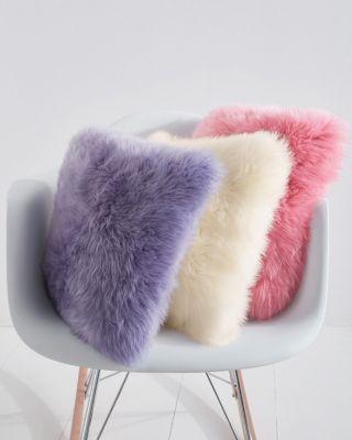 Colorful Sheepskin Pillow by Auskin