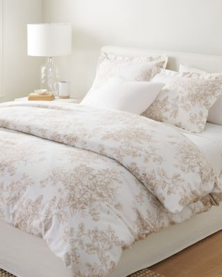 Garnet Hill Signature Toile Floral Flannel Duvet Cover