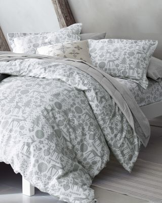 Signature Nordic Forest Flannel Duvet Cover