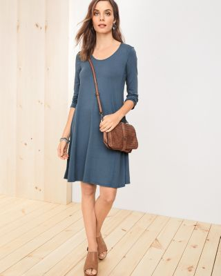 Knit Trapeze Dress by Garnet Hill
