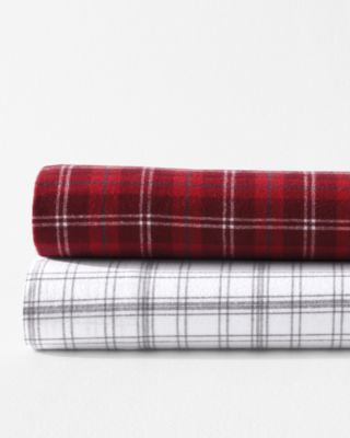 Plaid Paintbrush Cotton Flannel Sheets by Garnet Hill