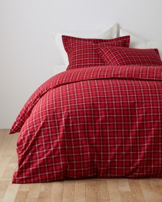 Plaid Paintbrush Flannel Duvet Cover
