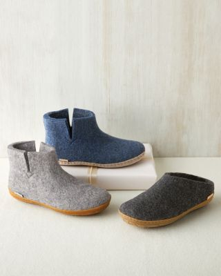Glerups Tall Wool Boot Slippers