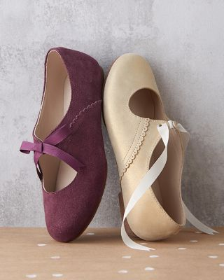 Elephantito Simple Lace Ballerina Shoes, Sizes 10-4