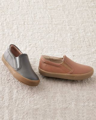 Boys' Leather Slip-On Sneakers by Old Soles