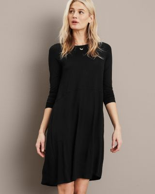 EILEEN FISHER Viscose-Jersey Flare Dress Petite
