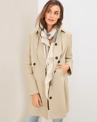 Organic-Cotton Utility Trench Coat