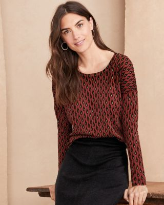 Garnet Hill Silk and Cotton Oversized Sweater