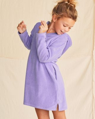 Surplice Solid Hooded Terry Cover-Up - Girls