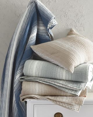 Printed-Stripe Dream Quilt & Sham By Garnet Hill