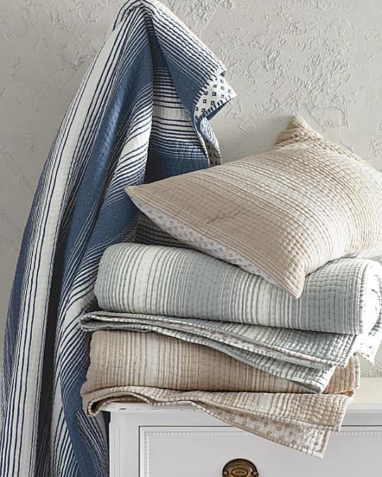 Printed-Stripe Dream Quilt and Sham   Garnet Hill : garnet hill dream quilt - Adamdwight.com