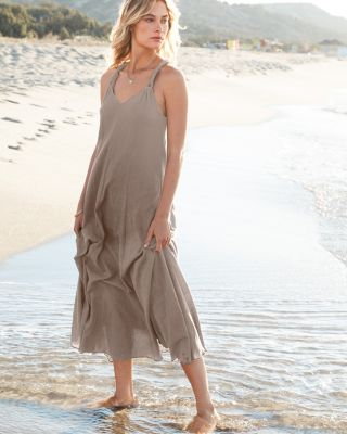 Cotton Gauze Long Cover-Up Petite