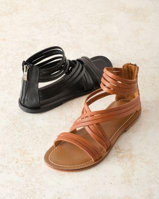 Giselle Italian Strappy Gladiator Sandals
